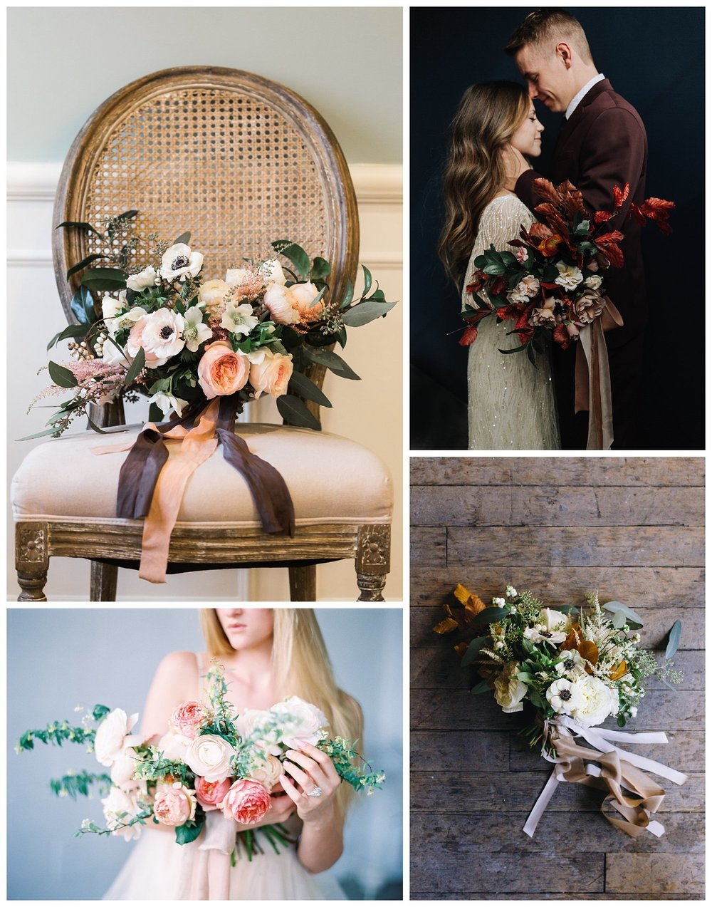 Top left: Rachel Lindsey Photography | Bottom left: Brushfire Photography | Top right: Talia Photography | Bottom right: Burlap and Blossom