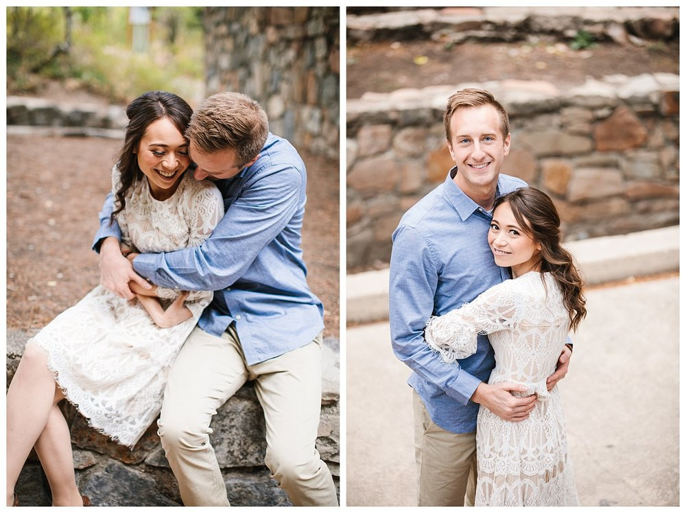 Classic Romantic Aspen Grove Utah Engagement Session
