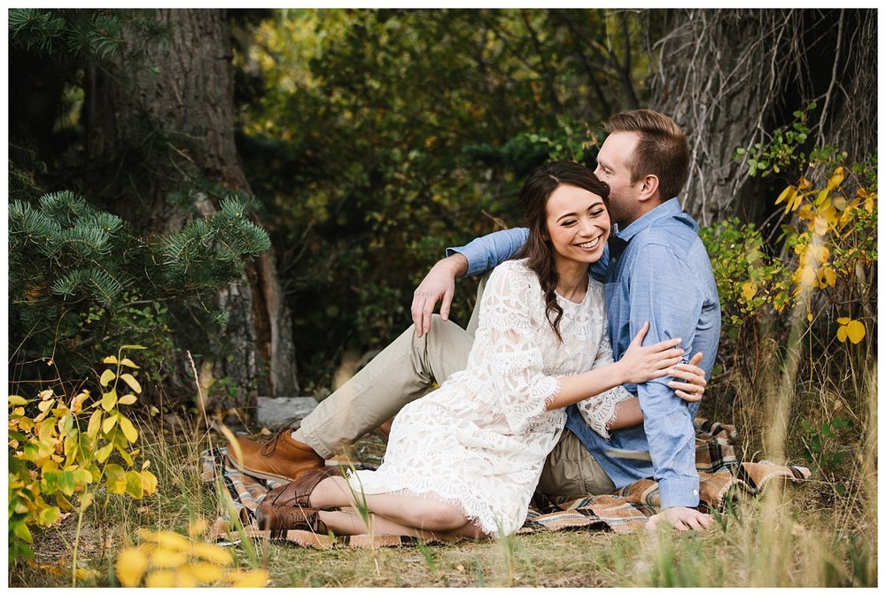 Aspen Grove Utah Fall Engagement Session