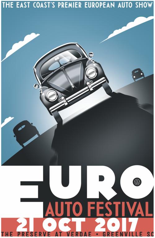 Poster Euro Auto Festival - Car show greenville sc