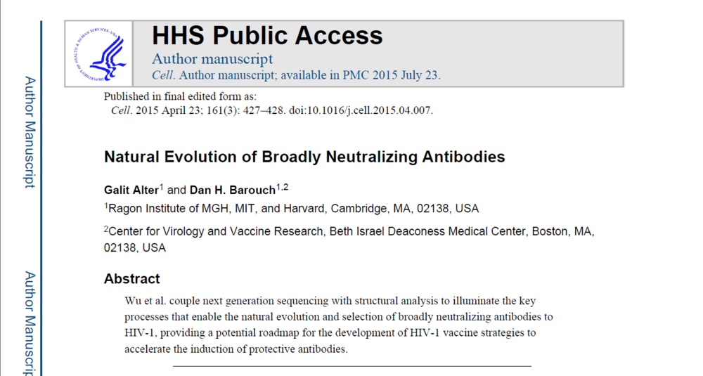 Natural Evolution of Broadly Neutralizing Antibodies
