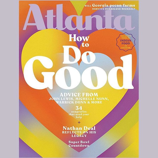 @atlantamagazine: Building Atlanta's beloved community. Why six prominent Atlantans (including @repjohnlewis, Michelle Nunn, @rodney.bullard, and more) volunteer their time—and where you can volunteer yours. Our January 2019 issue, on newsstands soon! Illustration by @filiperaic