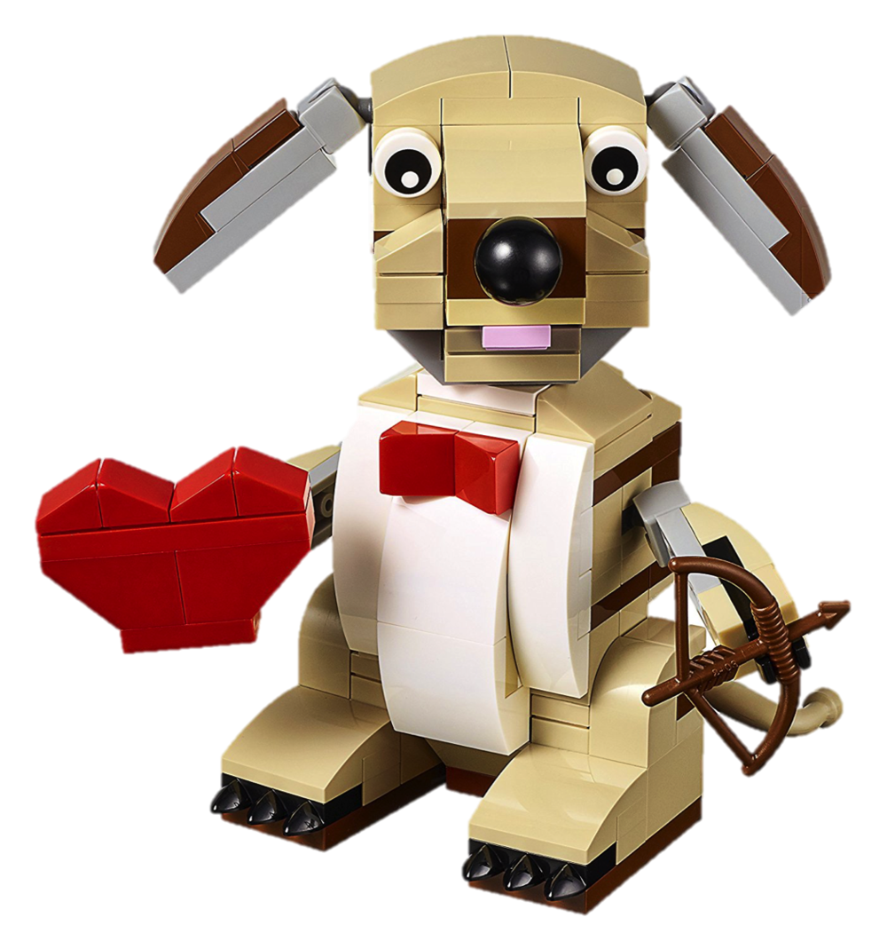 Valentine's Cupid Dog Lego Set, $25