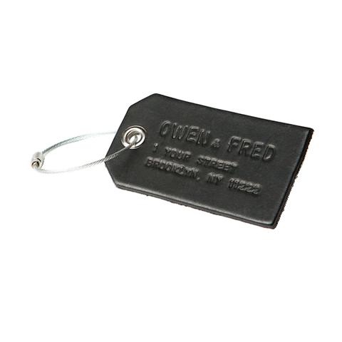 Custom Leather Luggage Tag, $50