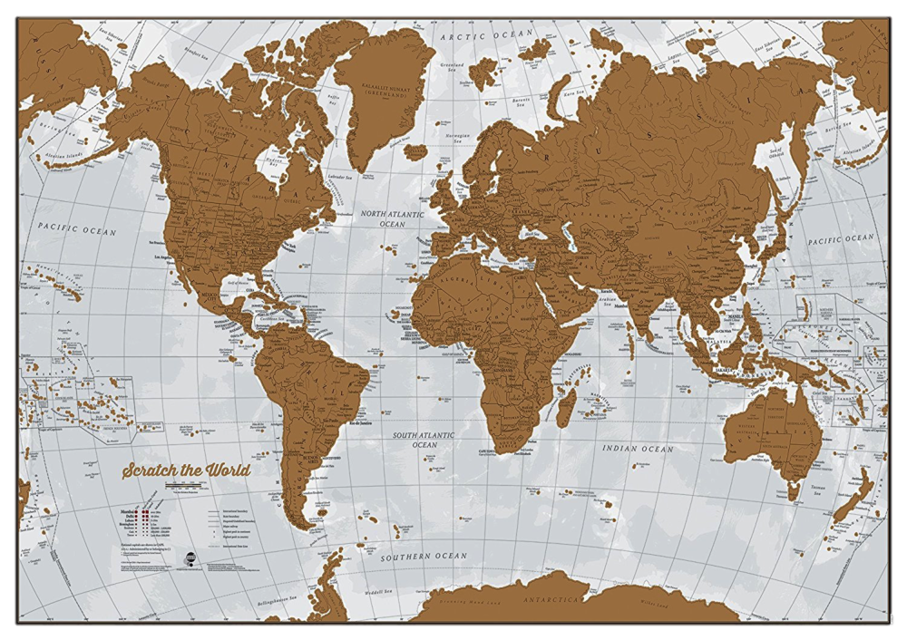 Scratch World Map, $29