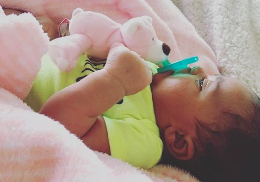 wubbanubBaby  Amelia is loving her #WubbaNub Pink Bear and matching pink blanket. Thanks for sharing the love with us @_nachelle 💕🎀 Share your photos through the hashtag #WubbaNub