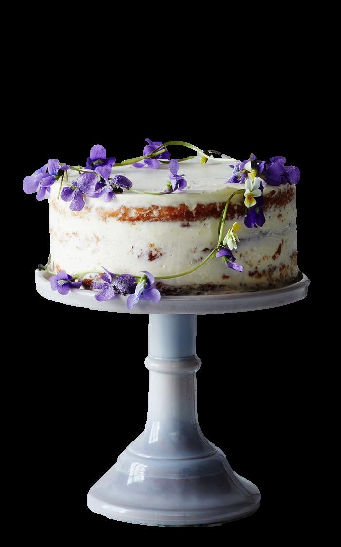 Glass Cake Stand, $45+