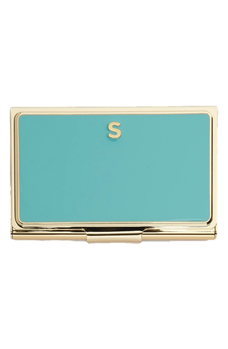 Initial Business Card Holder, $17