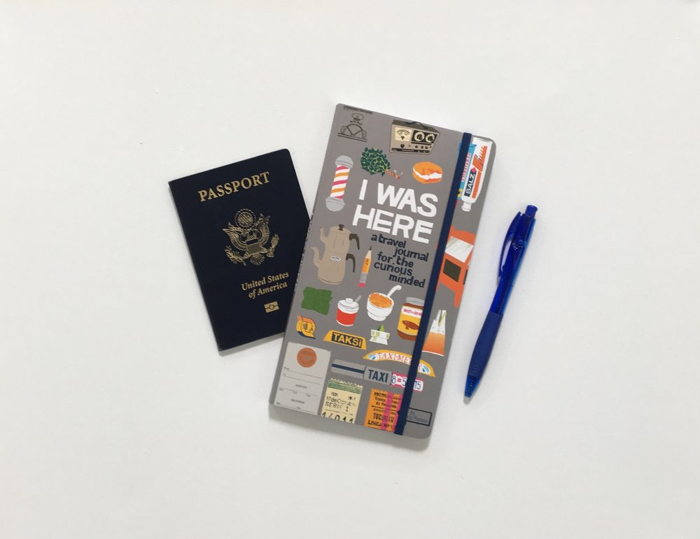 I was Here travel journal outgift