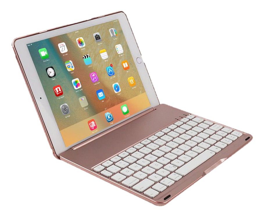 apple ipad keyboard case - This sleek hard-case keyboard cover turns their ipad into a laptop. It comes in different colors and has built-in brightness controls and 7 different backlight options.