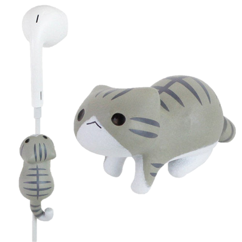 Furry Earbud Clips - Give bland earbuds a furry makeover with these Animal Earbud Clips that also prevent tangled cords.