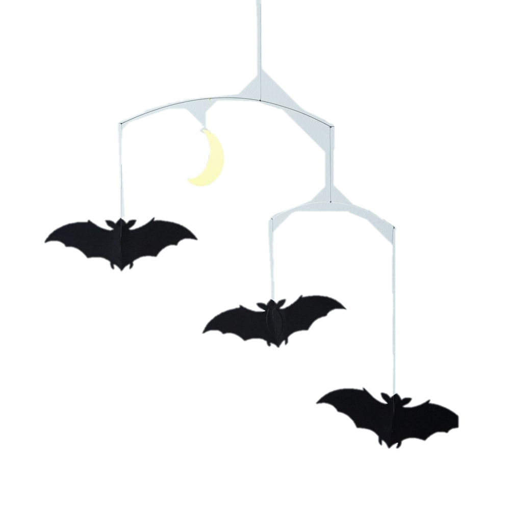 Bat Mobile - This Bat Mobile proves that decorations for Halloween can be minimal and chic. An awesome gift for October babies.