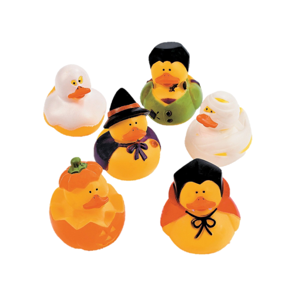 Spooky Rubber Duckies - An updated, haunted version of an old favorite - these Spooky Rubber Duckies are dressed and ready to be thrown into Halloween goodie bags!