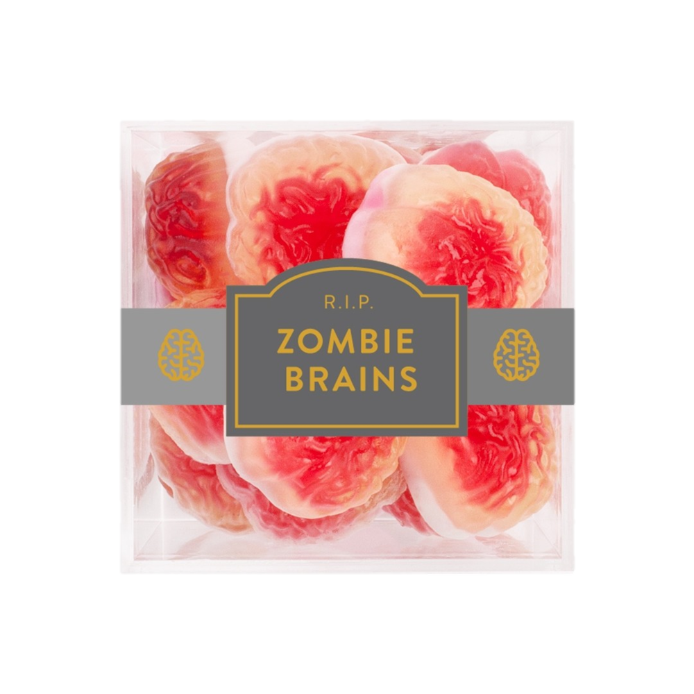 Zombie Brains Gummies - These brain-shaped gummy candies with a sweet strawberry center from Sugarfina are to die for!