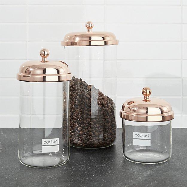 COPPER COFFEE JAR
