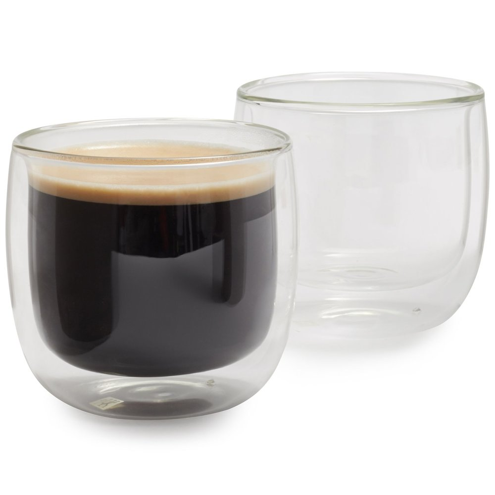 Double-Wall Coffee Glasses