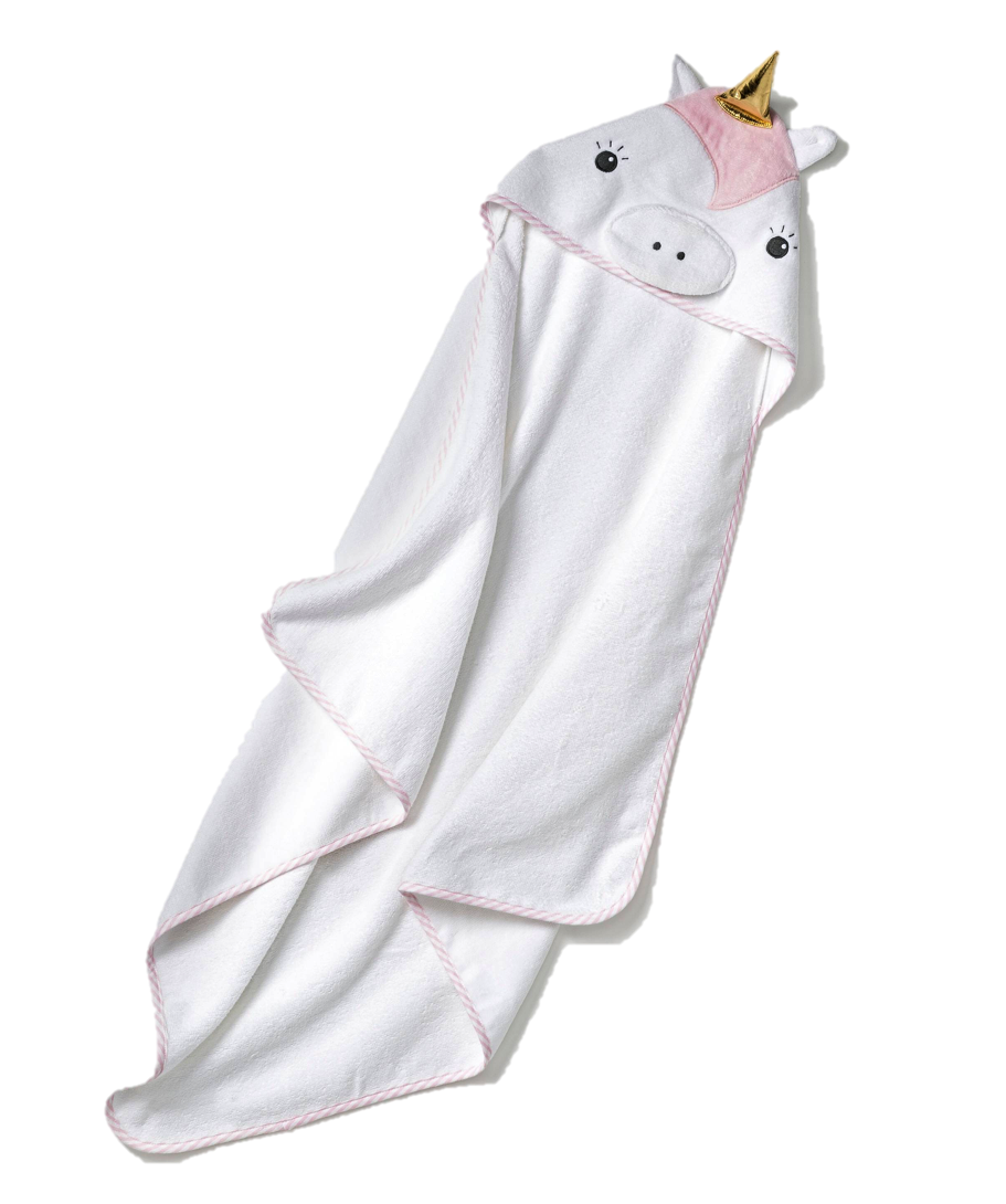 Unicorn Hooded Towel, $13