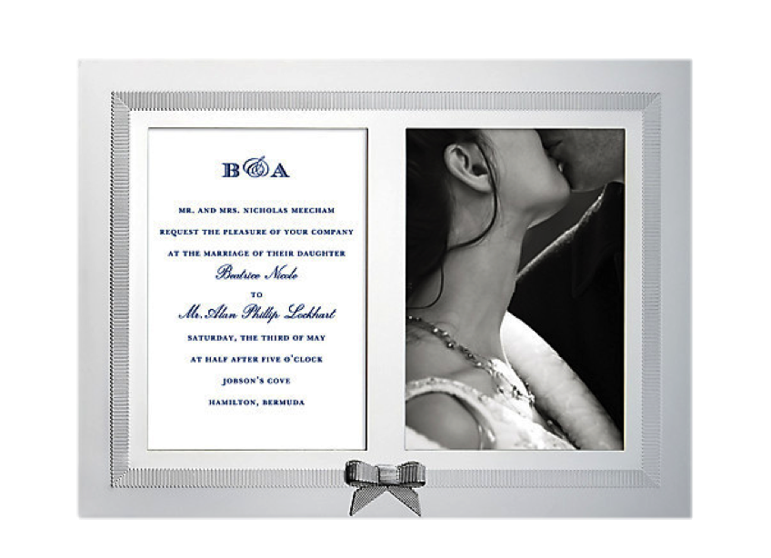 Double Invitation Frame, $100