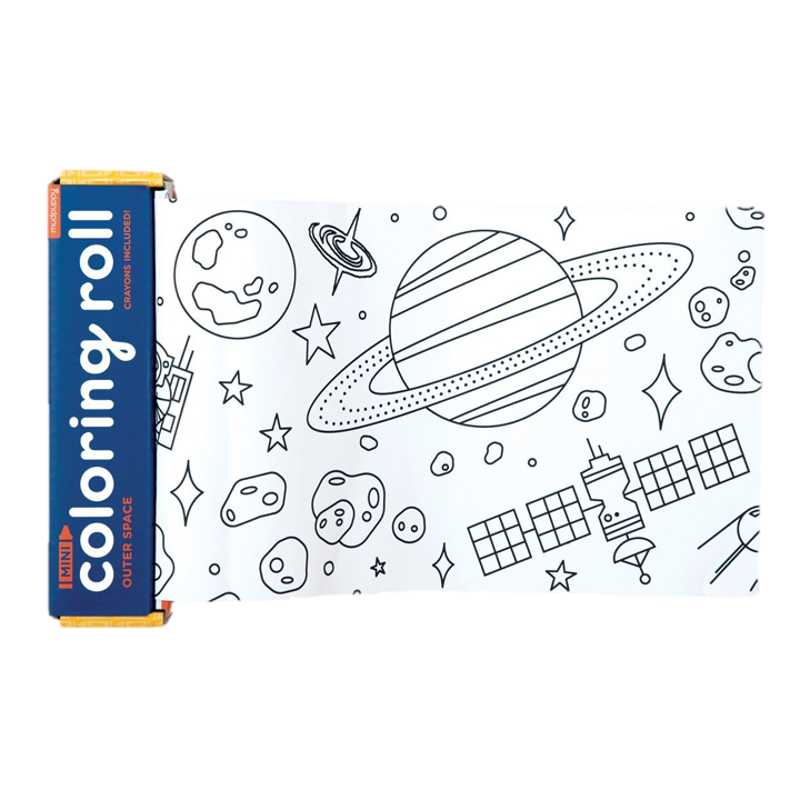 Outerspace Mini Coloring Roll, $10