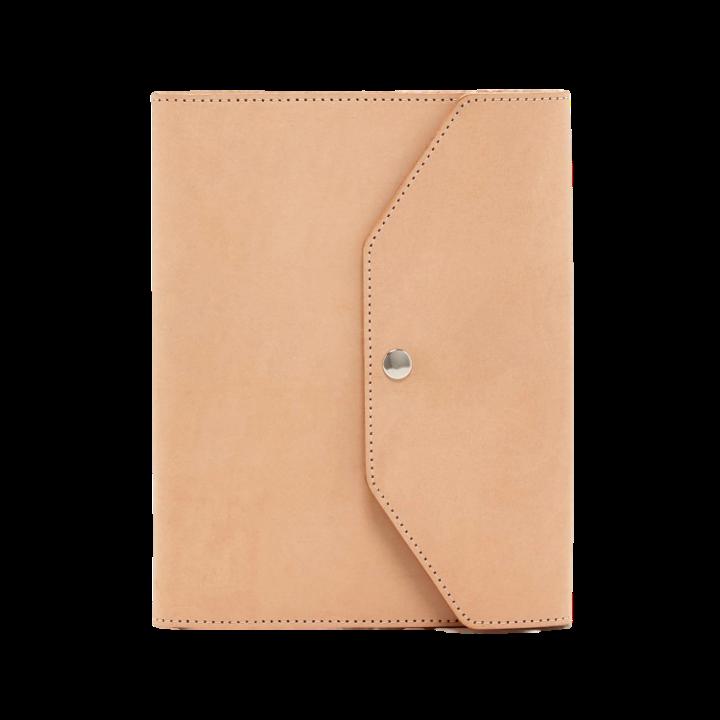Monogrammed Leather Folio, $124