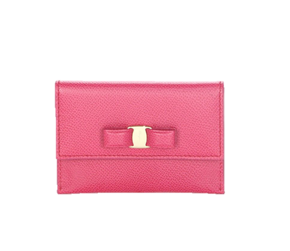 Ferragamo Leather Card Case, $240