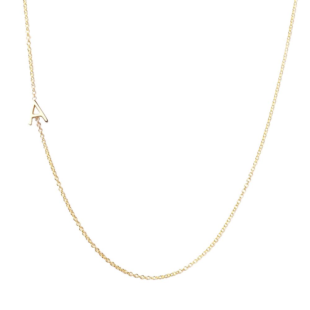 Gold Letter Necklace, $240