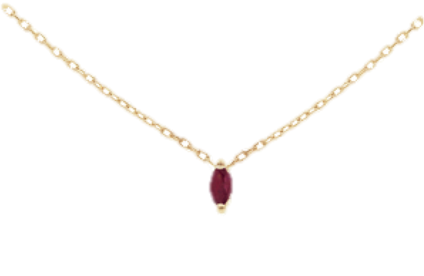 Ruby Charm Necklace, $350 (code OUTGIFT 10% off)