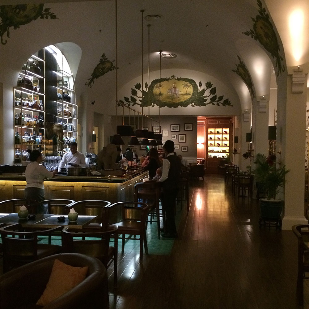 The Elephant Bar at the Raffles Hotel