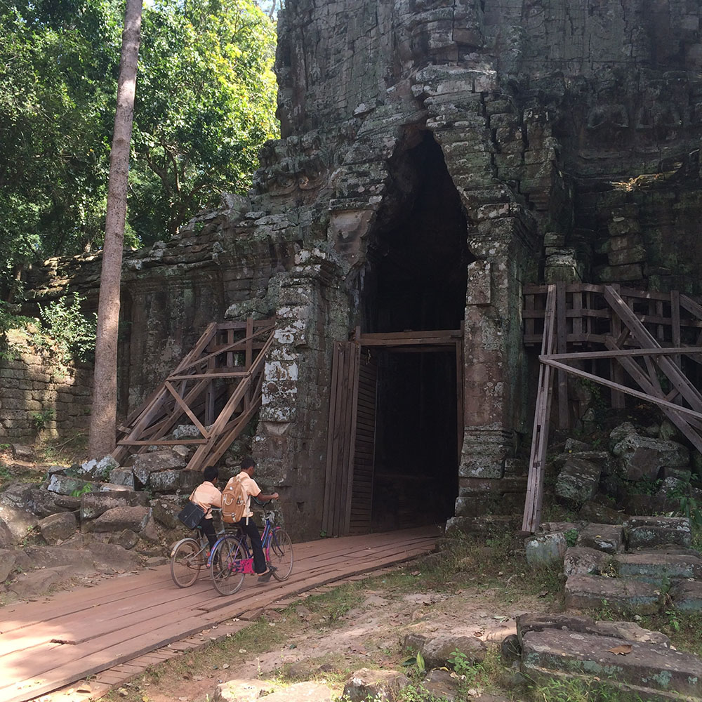 Gates to Angkor Thom