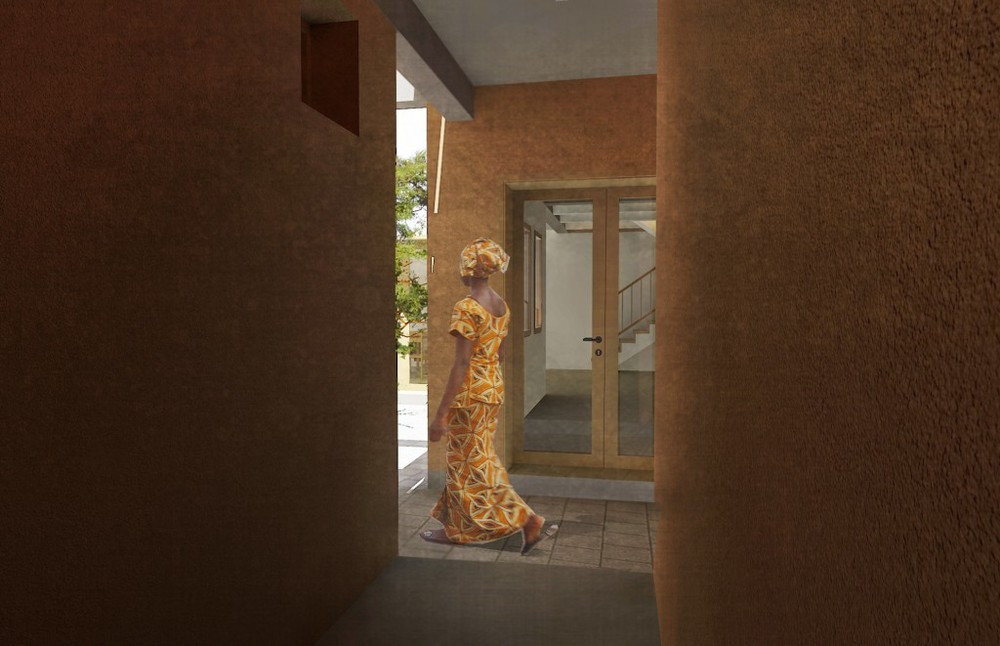 [Entry to middle class home planned for Niamey, Niger_image by united ➃ design]