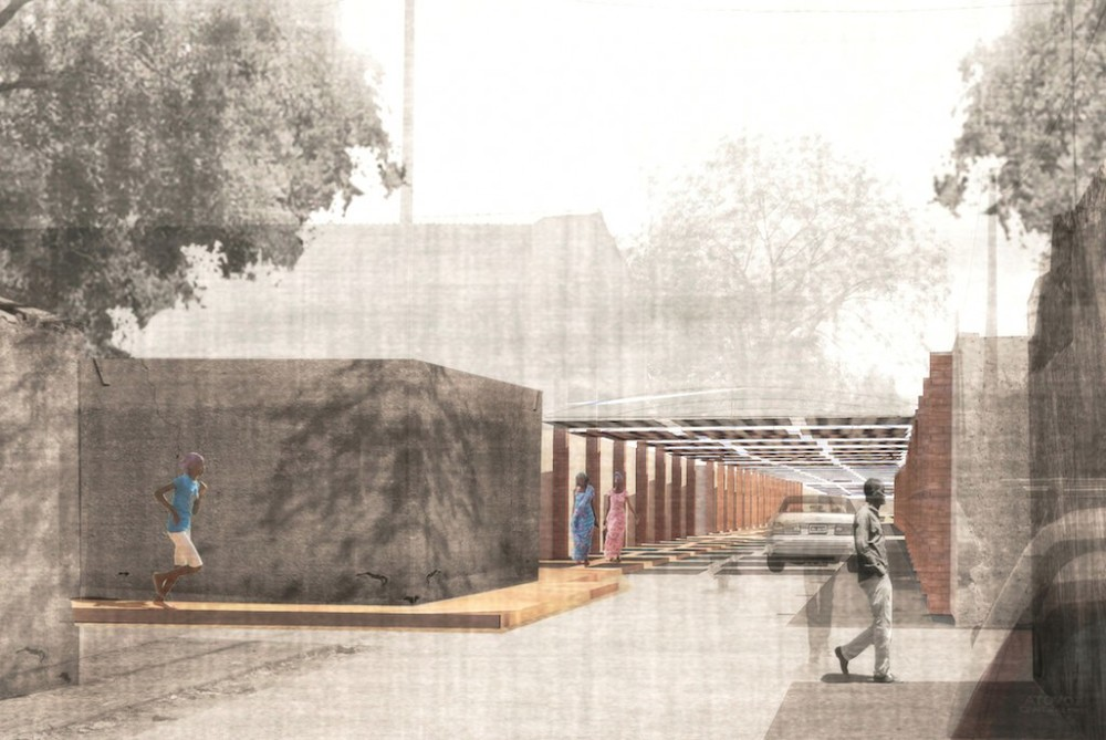 [View of project approach in a modest neighborhood of Niamey_image by united➃design]