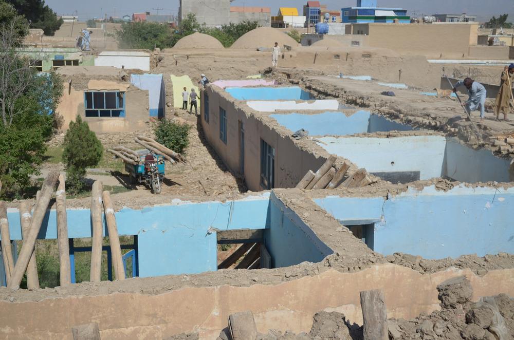 existing school demolition _ photo by Airokhsh Faiz Qaisary