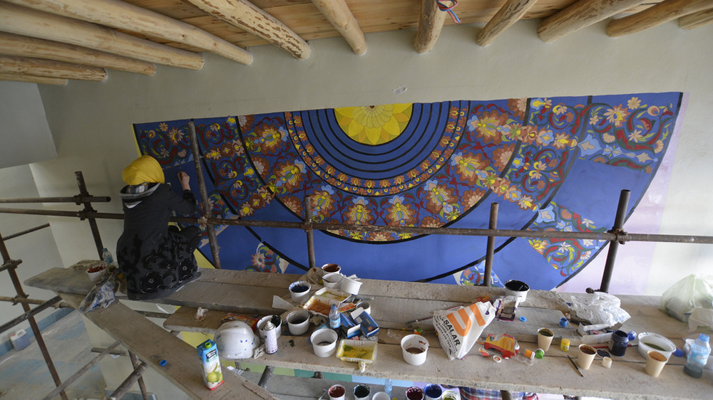 mural installation_photo by Farkhonda Rajabe