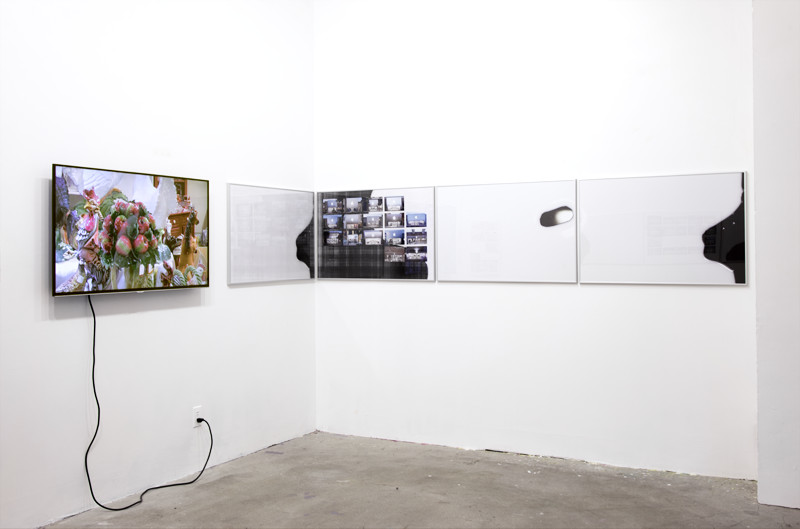 Installation view Coconut Point, 2016, Calarts REEF Residency, Los Angeles