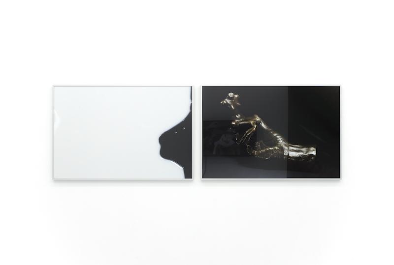 Untitled,2016,Archival inkjet print,61 x 91 cm and Untitled (Copy of Rodin's Hand Holding a Torso),2017,Archival inkjet print,61 x 91 cm