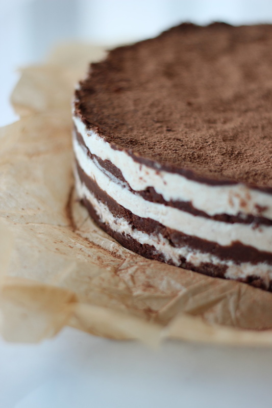 Chocolate Hazelnut Cream Layer Cake