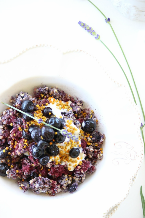 Raw Blueberries + Cream Granola