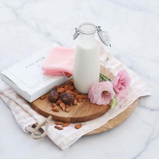 Now stocked at @ohnaturalnz - Our beautiful DIY Kind Mylk kit, a collab between The Green Collective and I. Everything you need to make your own raw, fresh and delicious almond milk  for life + recipes for 4 more incredible mylks! Included is the blush pink reusable nut mylk bag from the talented @grncollective