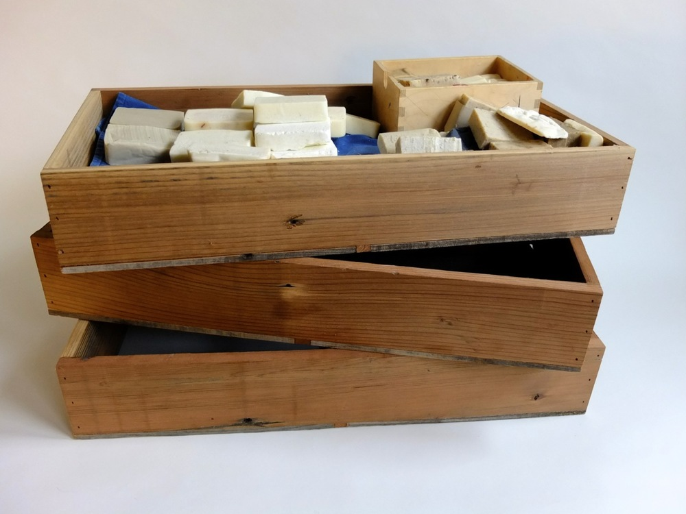 Recycled Redwood Soap Drying Boxes with Metal Screen Bottom
