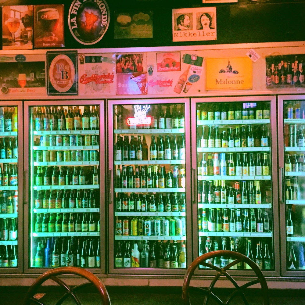 A wide selection of over 300 beers.