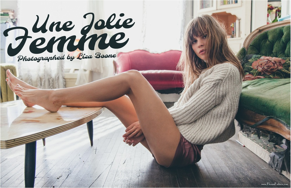 Une Jolie Femme by Liza Boone for Florum Fashion Magazine