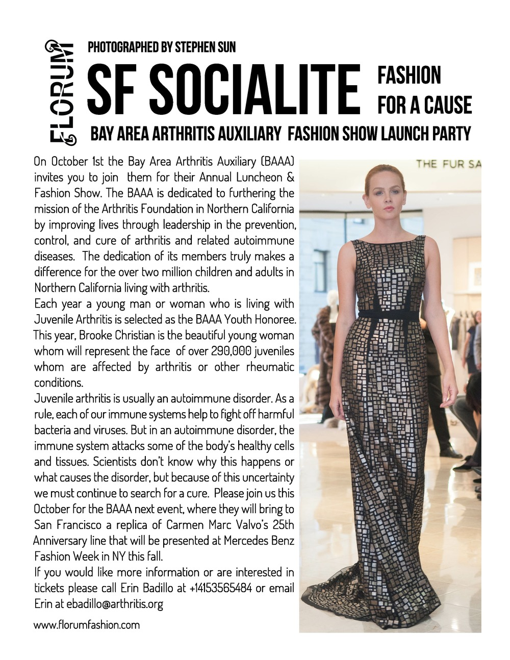 Bay Area Arthritis Auxiliary Carmen Marc Valvo Launch Party at Saks Fifth Avenue San Francisco