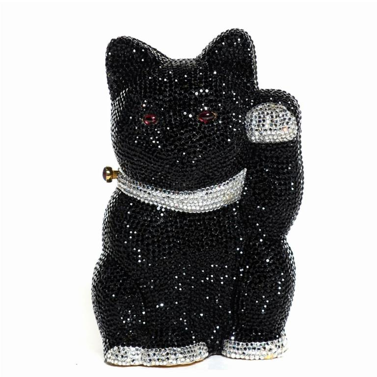 Judith Leiber Swarvorski Crystal Cat Minaudiere Clutch/ Fashionphile / $3,595 / Fashionphile will buy back for $1,762