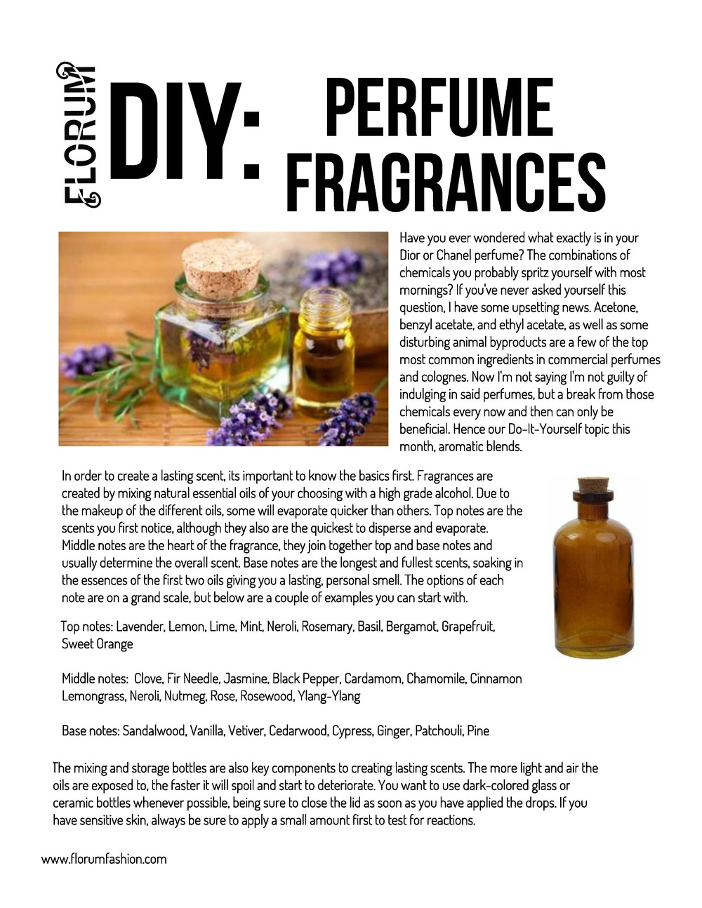 Do It Yourself Organic Perfume Florum Fashion Magazine