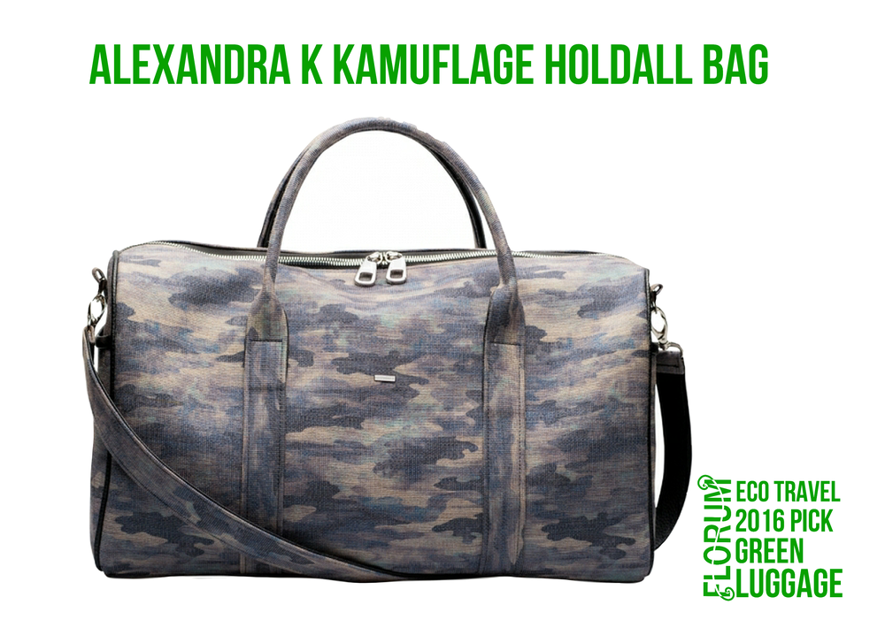 Florum Eco Travel 2016 Green Luggage Pick - Alexandra K Kamuflage Holdall Bag Animal Rebel Collection - Noelle Lynne.png