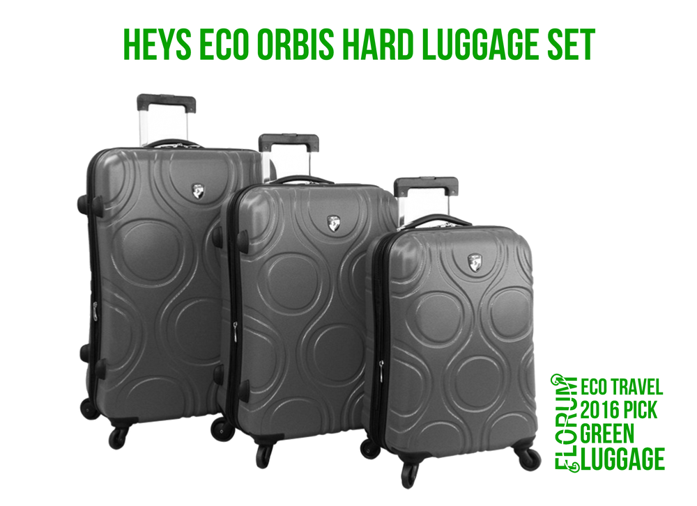 Florum Eco Travel 2016 Green Luggage Pick - Hey Eco Orbis 3 Piece Luggage Set - Noelle Lynne