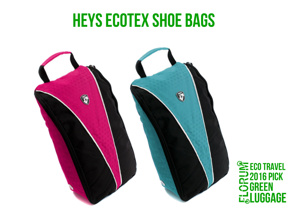 Florum Eco Travel 2016 Green Luggage Pick - Heys EcoTex Shoe Bags - by Noelle Lynne