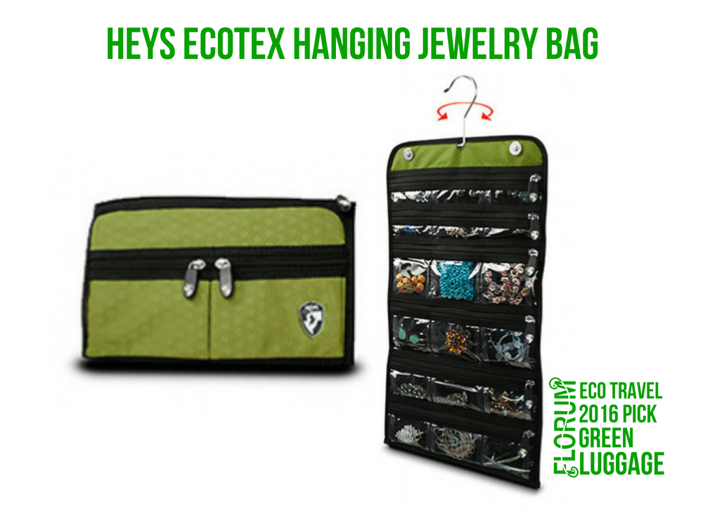 Florum Eco Travel 2016 Green Luggage Pick - Heys EcoTex Hanging Jewelry Bag - Noelle Lynne