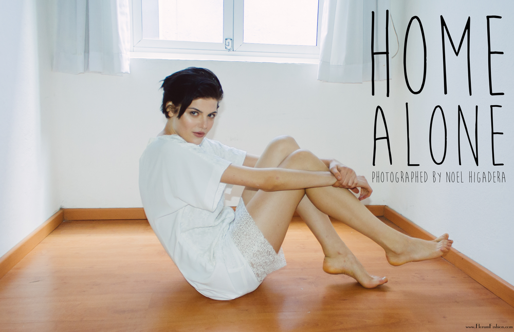Home Alone - Florum Fashion Magazine -Photographed by Noel Higadera - Victoria of Pargon Managemnt - Styled by Diego Ibañez