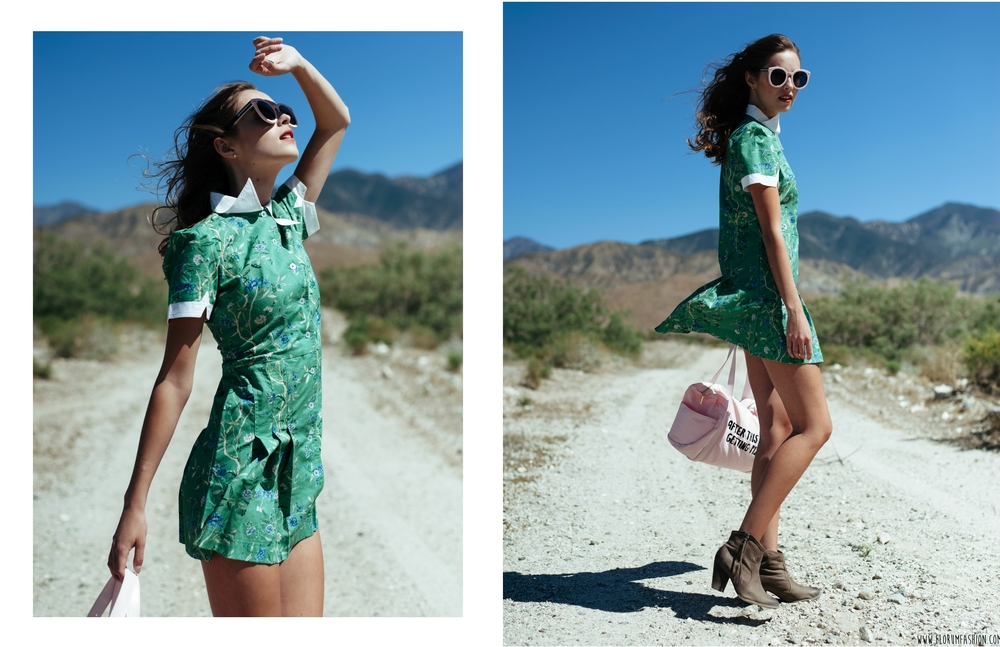 Dress by S amantha Pleet  / Bag by S hop Ban.Do / Sunglasses by K aren Walker